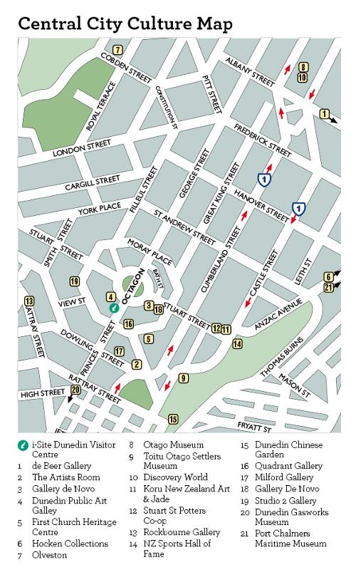 Map Of Dunedin New Zealand.Dunedin New Zealand Accommodation Dunedin Hotels Tours