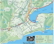 Dunedin Cycling Map